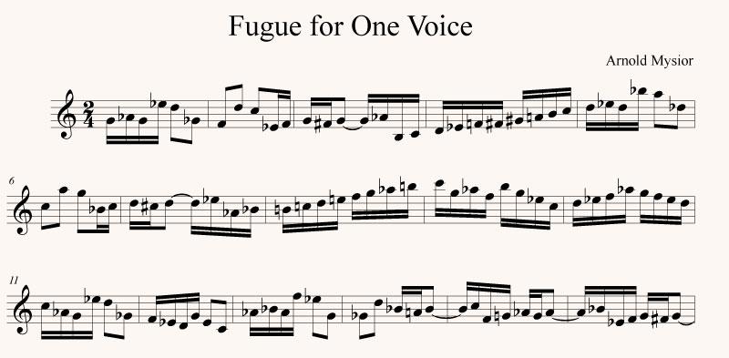 Fugue for One Voice