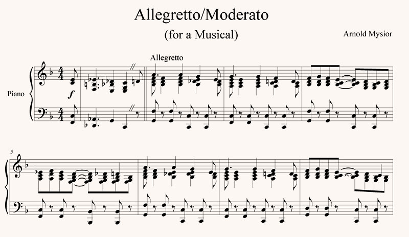Allegretto Moderato
