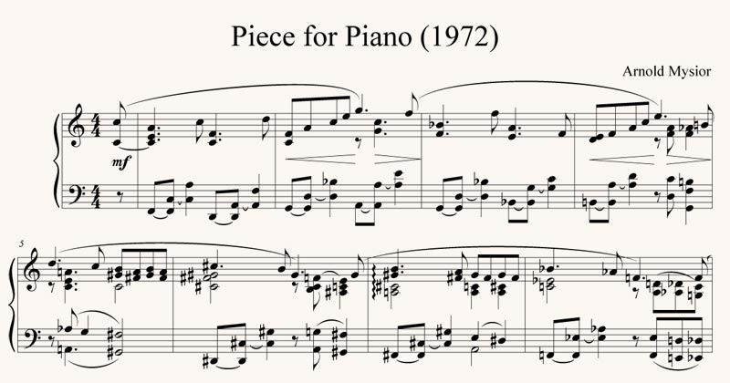 Piece for Piano (1972)