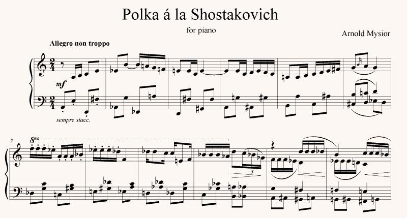 Polka a la Shostakovich