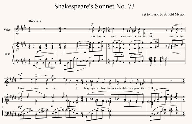 Shakespeare's Sonnet 73