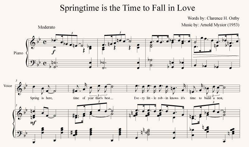 Springtime is the Time to Fall in Love